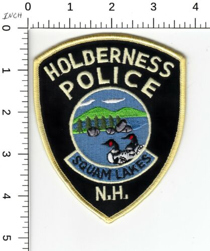 HOLDERNESS NEW HAMPSHIRE POLICE PATCH (SQUAM LAKES) NH