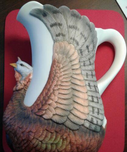 Wild Turkey Fliers Club Decorative 1987 Porcelain Water Pitcher, rare