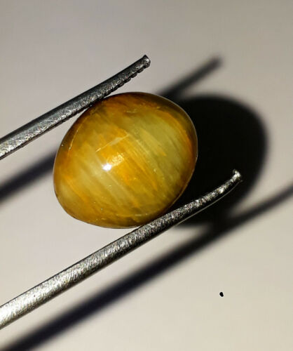 100% Natural Untreated Chrysoberyl Cats Eye Oval Cabochon Loose Gemstone