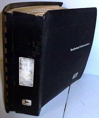 John Deere 6600 Sidehill 6600 7700 Combine Technical Manual W Binder Jd