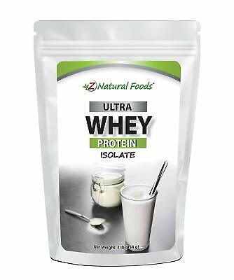 1Lb Grass Fed Whey Protein Isolate Unflavored All Natural Protein Powder BEST