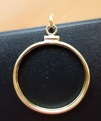 SOLID 14k GOLD COIN BEZEL for US Quarter, Half, Full or Double Eagle Gold Coin