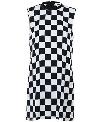 VERSUS by Versace Womens Black and White Dress Size 46 IT 10 US NEW Checkerboard