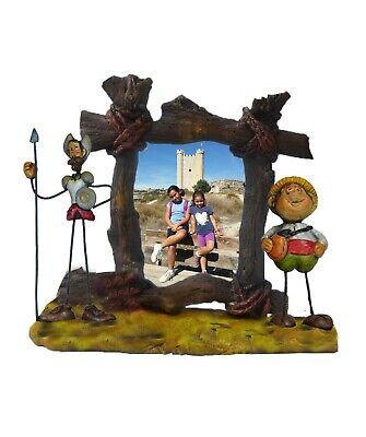 Marco fotos cerámica Quijote-Sancho. Tamaño grande 15 x 20