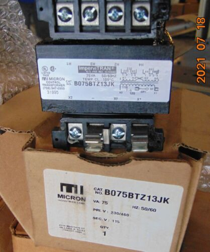 Micron B075BTZ13JK CTL Transformer 75VA Secondary Fusing New