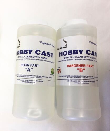 HOBBY CAST Clear Bar Table Top Epoxy Resin Coating Wood Tabletop 32 OZ Kit PKM