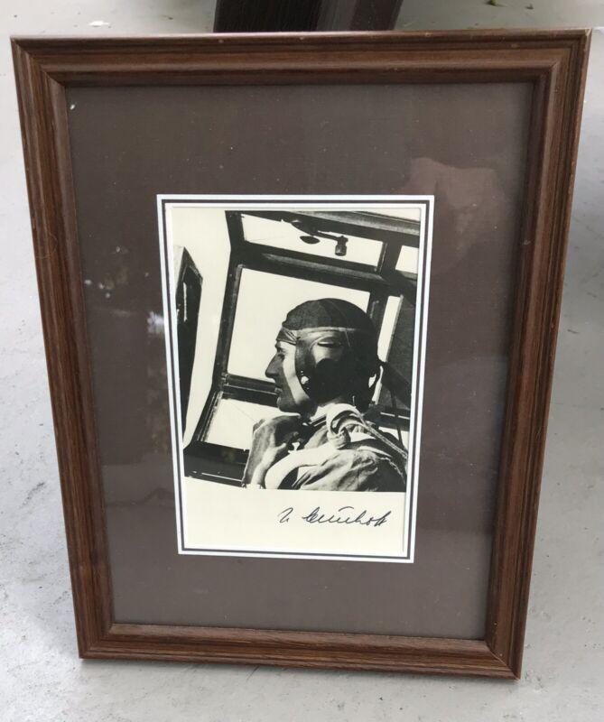 WWII German Flying Ace Johannes Steinhoff Post War Autograph BF 109 Photo