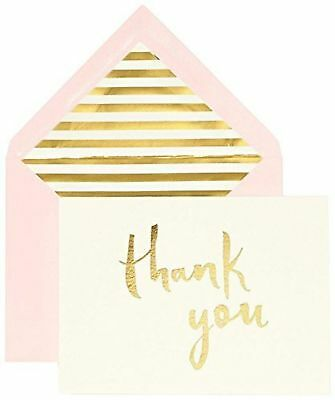 Kate Spade New York Bridal Note Card Set - Thank You (Gold)