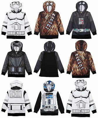 Authentic Star Wars Characters Costume Hoodies. Size 2T - 20yrs NWT