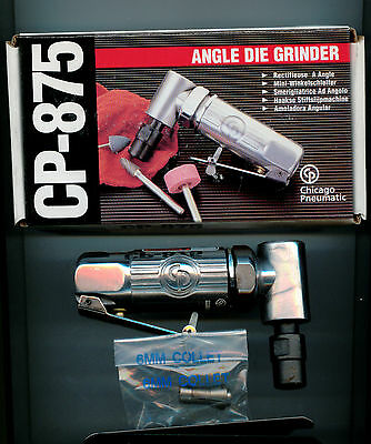 Chicago Pneumatic CP-875 Mini Angle Air Die Grinder with 1/4