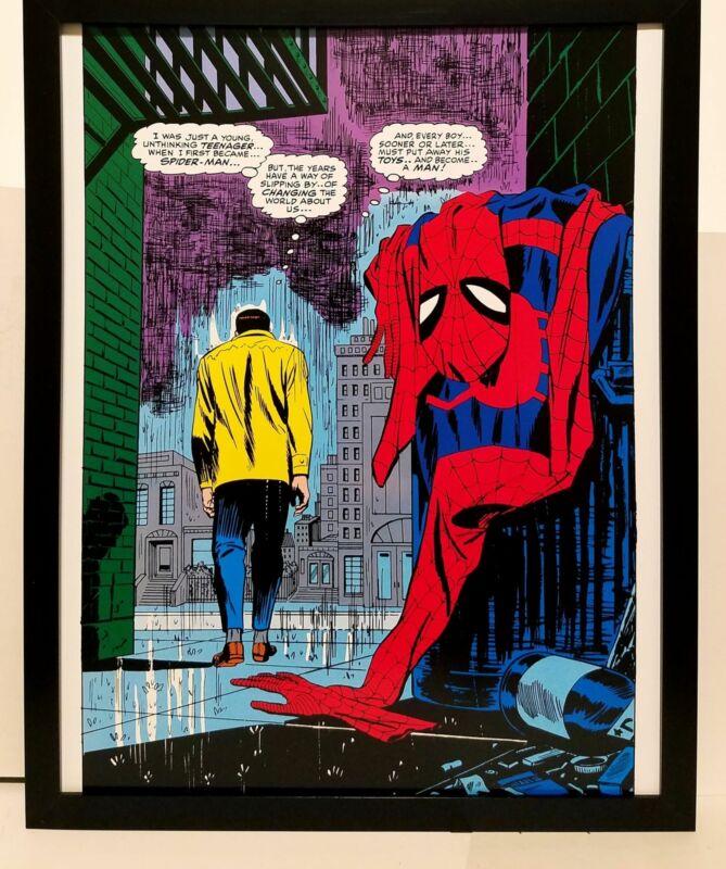 Amazing Spider-Man #50 No More by John Romita 11x14 FRAMED Marvel Comics Art Pri