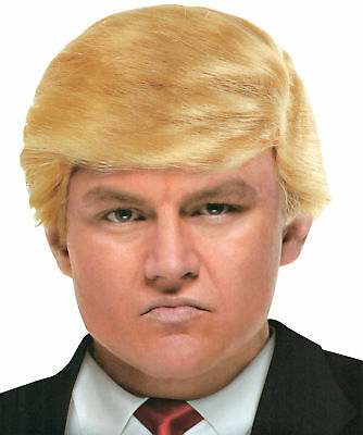 Billionaire Wig Donald Trump Adult Blonde Hair Yellow President Comb (Donald Trump Wig Kostüm)