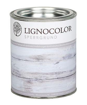 Lignocolor Sperrgrund Isoliergrund Holzlack Kreidefarbe Shabby Chic Farbe 750ml