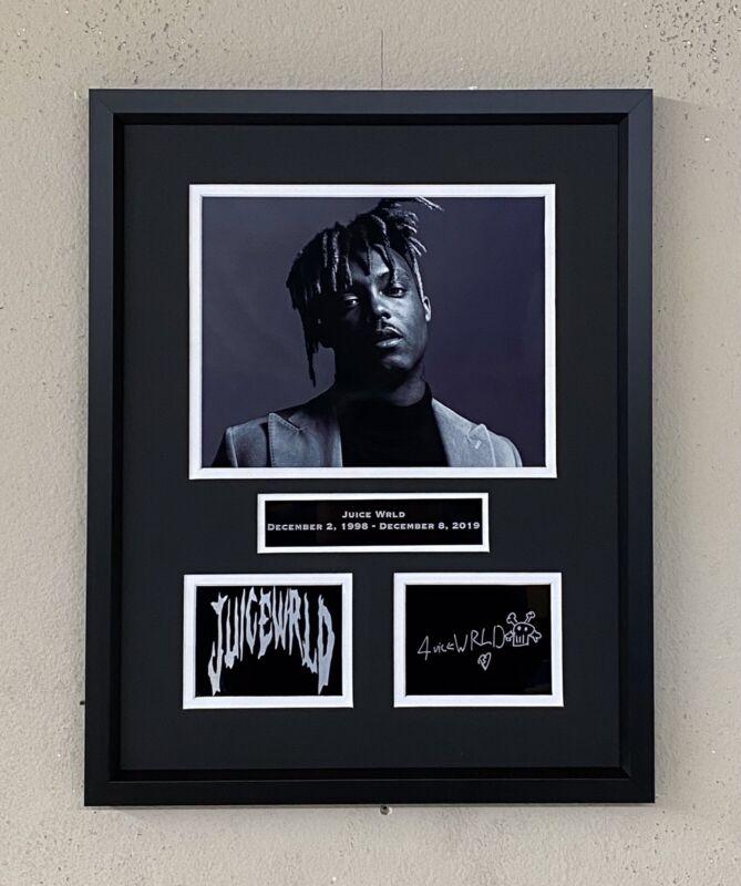 Juice WRLD Laser Facsimle Autograph Signed Custom Framed Death Race For Love
