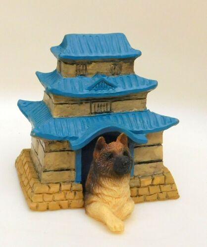 VTG 1993 AKITA Puppy Dog House Japanese Pagoda Kennel Figure