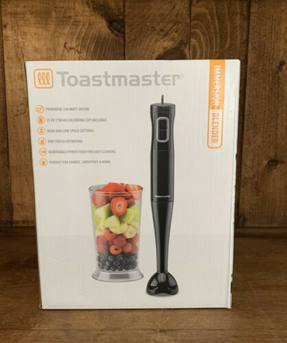 Toastmaster Immersion Hand Blender Mixer Black with 700ml Bl