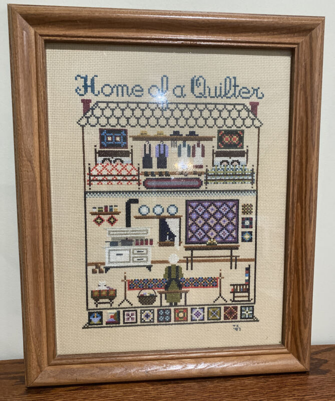 FRAMED COUNTED CROSS STITCH Home Of A Quilter Complete