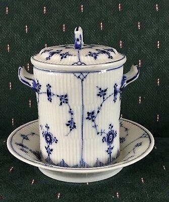 Royal Copenhagen Blue Flute Condensed Milk Container/Holder Set