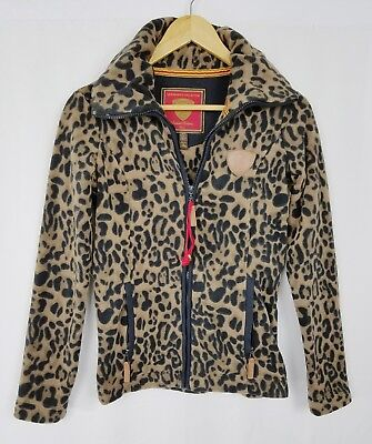 (Horseware Ireland Newmarket Jacket Animal Print Leopard Fleece Zip Equestrian 4)