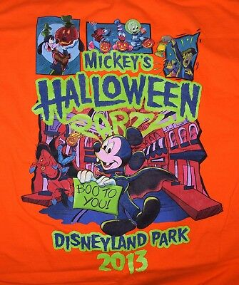 Disney Mickeys Not So Scary Halloween Party Disneyland T-Shirt Size LARGE Orange - Not So Scary Halloween Disneyland
