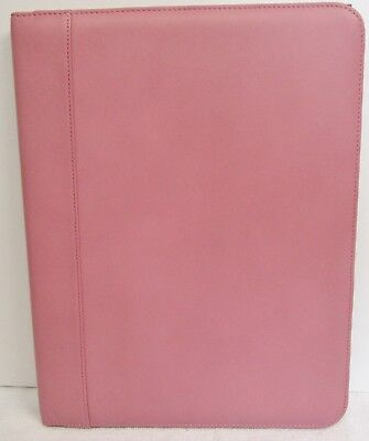 Andrew Philips Deluxe Napa Leather Writing Pad Holder 12 12 X 9 12 X 34 Pink