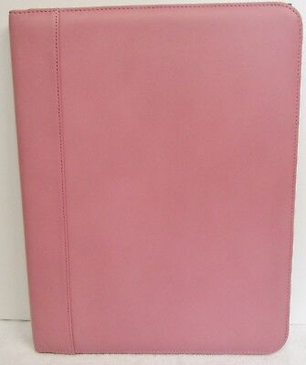 Andrew Philips Deluxe Napa Leather Writing Pad Holder 12 1/2 x 9 1/2 x 3/4 Pink ()