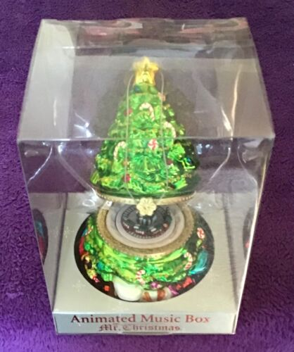 Mr. Christmas Animated Music Box Tree & Train - O Christmas Tree - Ornament