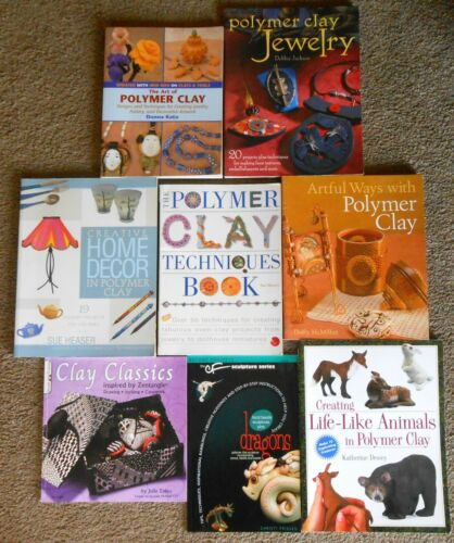 Lot of 8 Polymer Clay Books