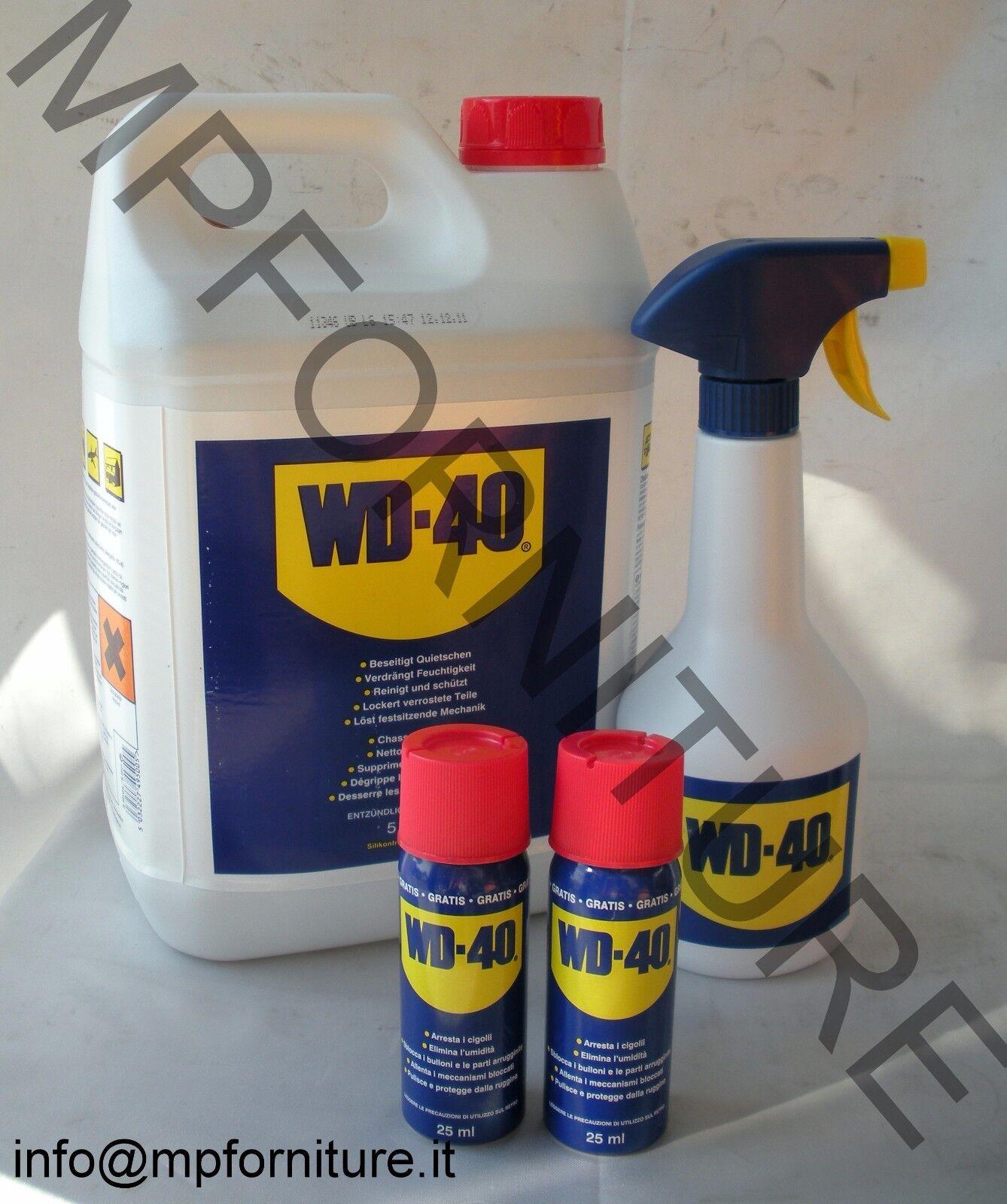 SPRAY WD-40 5 lt + OMAGGIO WD40 WD 40 LUBRIFICANTE SBLOCCANTE 5lt anti umidità