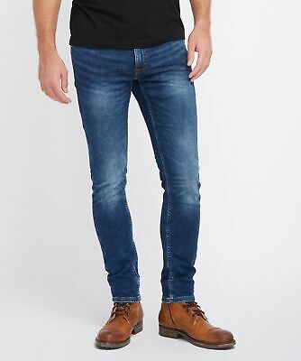Mustang Oregon Tapered K Herren Slim Fit Sweat Jeans / Used-Finish  - Slim Reißverschluss