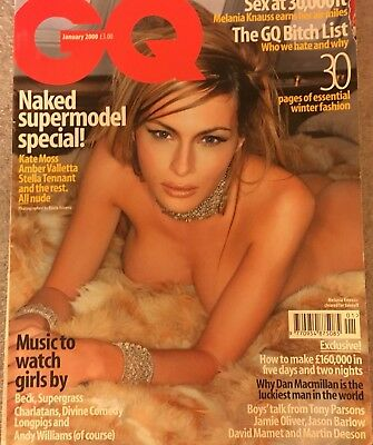 Melania Knauss Donald Trump 's First Lady - 2000 GQ UK British Fashion Magazine