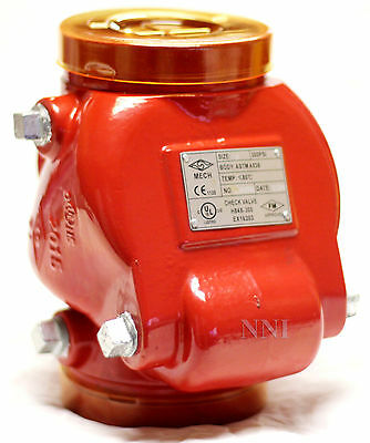 4 Swing Check Valve Grooved Ends 300psi Ulfm - Fire Protection