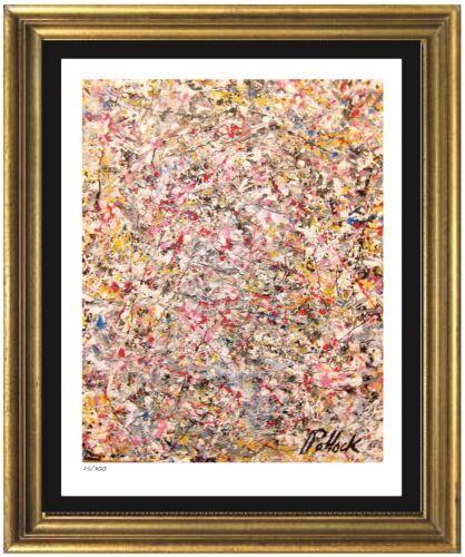 "Jackson Pollock Rare Signed & Hand-Numbered Ltd Ed ""Untitled"" Print (unframed)"