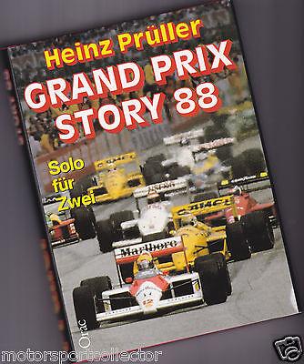 Formel 1 Jahrbuch    Grand Prix Story 88    Heinz Prüller 1988, A. Senna McLaren