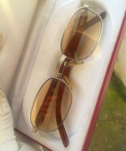 Lunettes cartier breteuil (52mm) (vintage eyewear sunglasses frames wood)