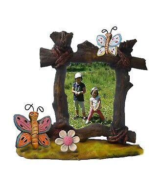 Marco fotos cerámica mariposas- flor. Tamaño grande 15 x 20