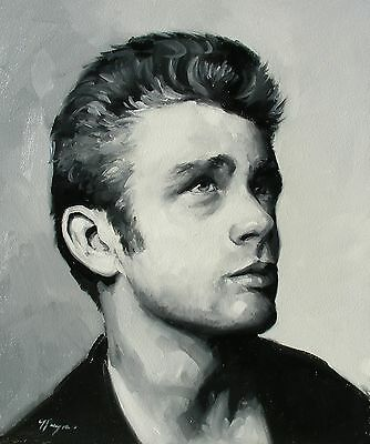 Oil Painting   Portrait Of James Dean   By J Payne