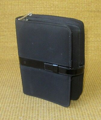 Portablepersonal 1 Rings Black Durable Microfiber Day-timer Plannerbinder