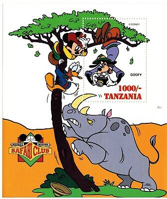 Tanzania - Disney, Safari Club w/ Goofy Part II - Souvenir Sheet MNH