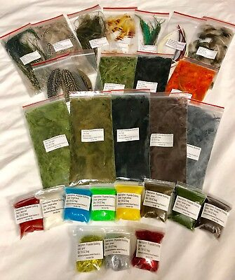 Fly Tying Feather Material Starter Kit Bulk Tying Feathers - Bulk Feathers