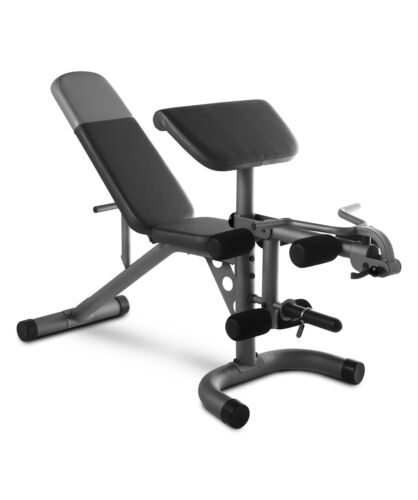 Weider XRS 20 Adjustable Olympic Workout Bench w/ Removable Preacher Pad