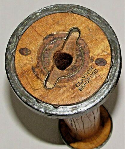 Vintage Industrial Thread Spools c.1954 Wood Metal / Clayton Bradford / PAIR