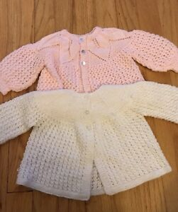 Two handmade 6 month sweaters