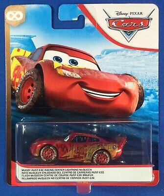 Disney Pixar Cars Muddy Rust Eze Racing Center Lightning McQueen