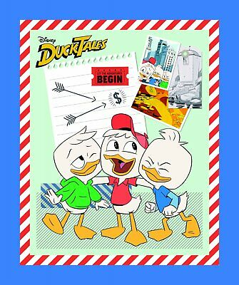 Duck Tales Disney Donald Duck kids 43 x 36 Panel Cotton Fabric - $7.45 (Duck Tales Costume)