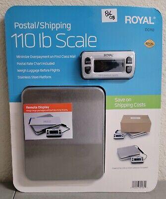 Royal Dg110 Digital Postal Scale 110lb50kg Maximum Weight Capacity Silver