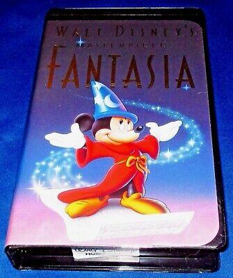 Disney's FANTASIA (1991) RARE Black VHS Clamshell ORIGINAL Christmas '91 Release