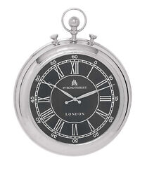 Bond Street London Pocket Watch Hanging Round Metal Wall Clock Decor 27876