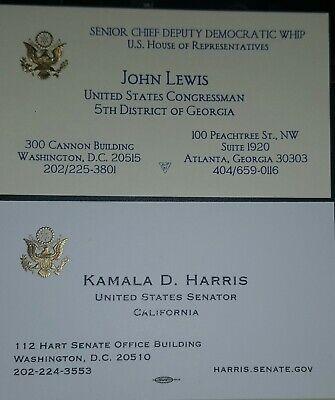 John Lewis Congressional Business Card & Senator Kamala D. Harris Business Card