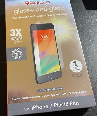ZAGG Invisible Shield Glass + Anti-Glare Protector iPhone 7 Plus or 8 Plus NEW